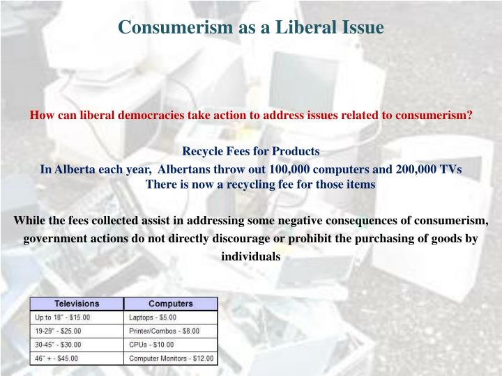 Consumerism as a Liberal Issue