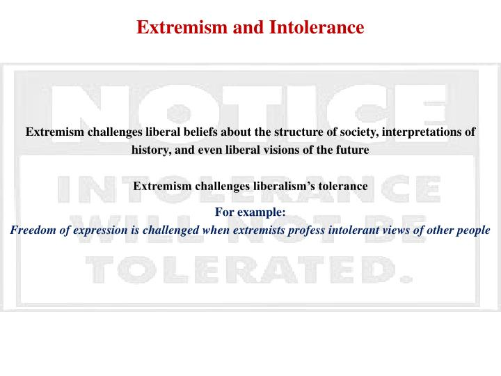 Extremism and Intolerance