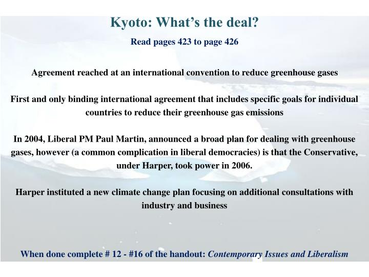 Kyoto: What's the deal?