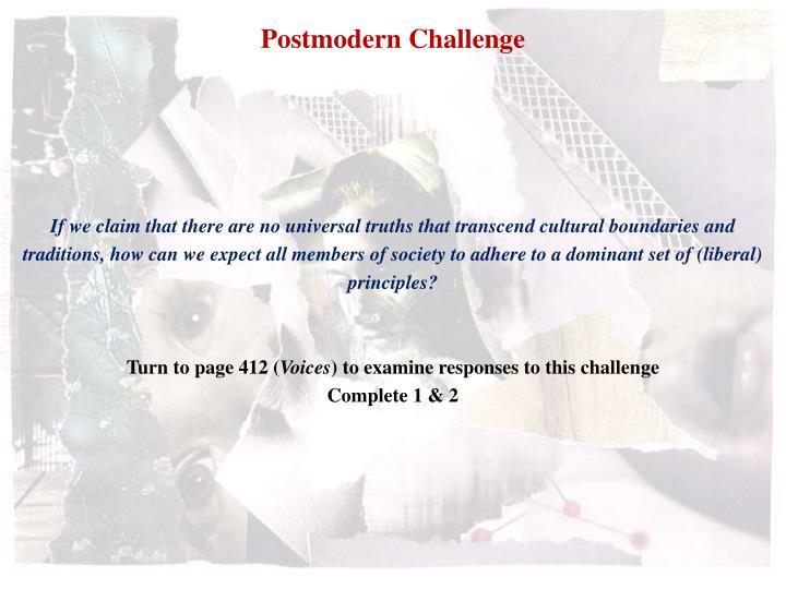 Postmodern Challenge