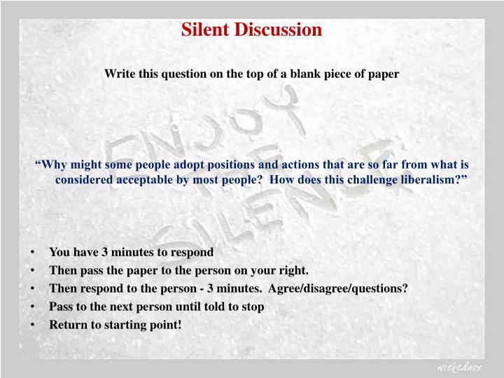 Silent Discussion