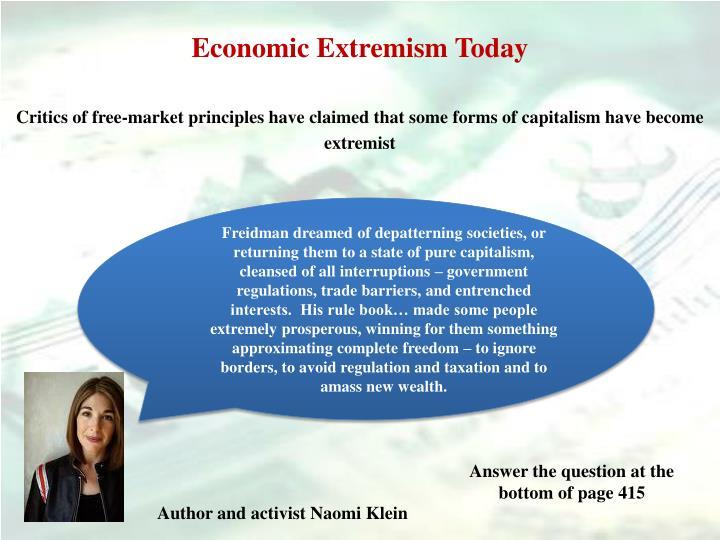 Economic Extremism Today