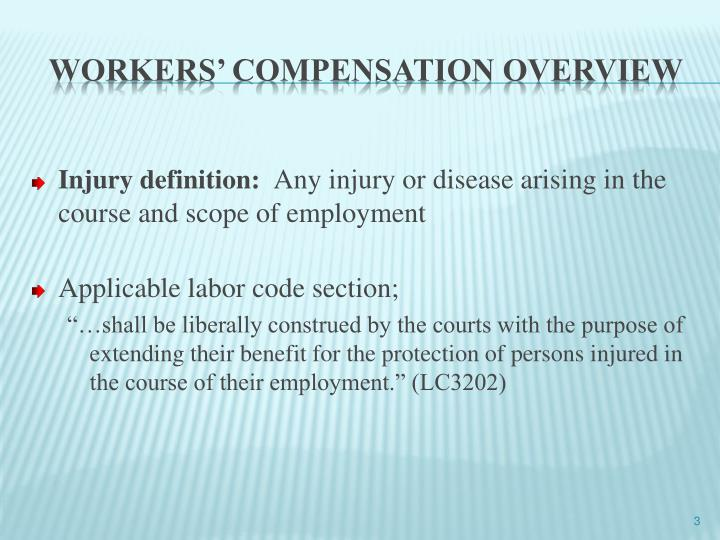 Workers compensation overview