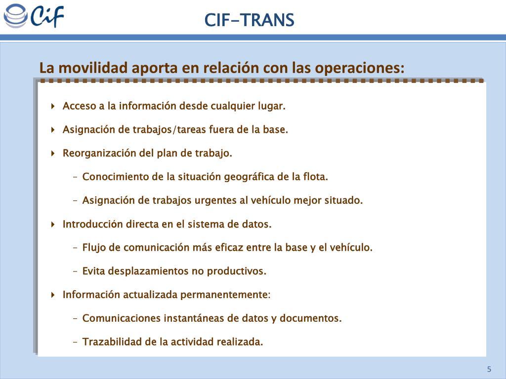 CIF-TRANS