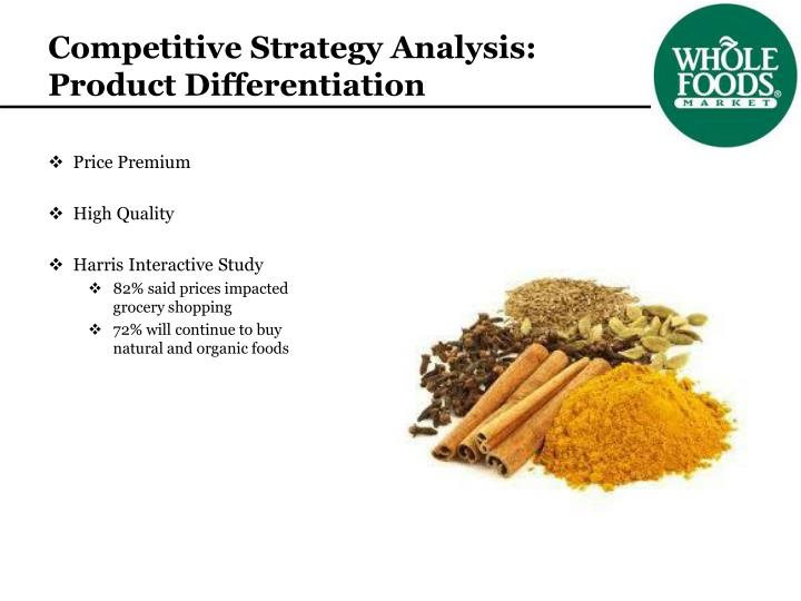 Competitive Strategy Analysis: Product Differentiation