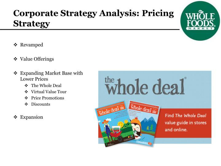 Corporate Strategy Analysis: Pricing Strategy