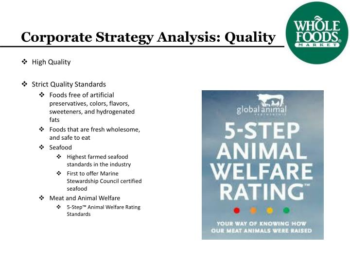 Corporate Strategy Analysis: Quality