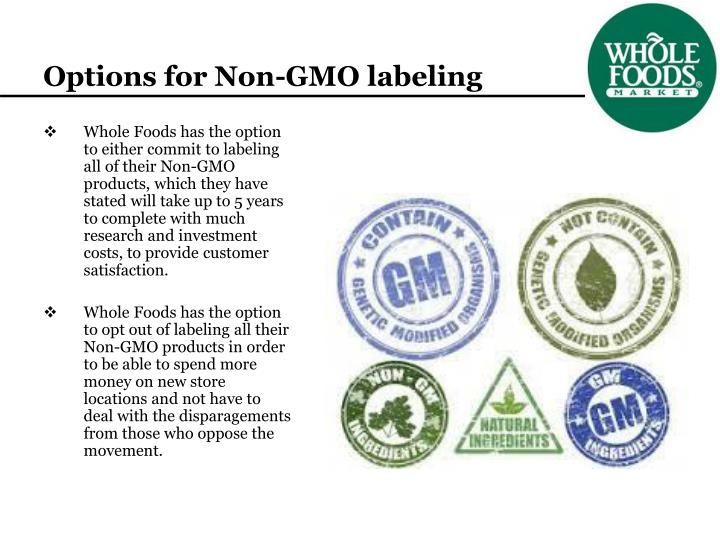 Options for Non-GMO labeling