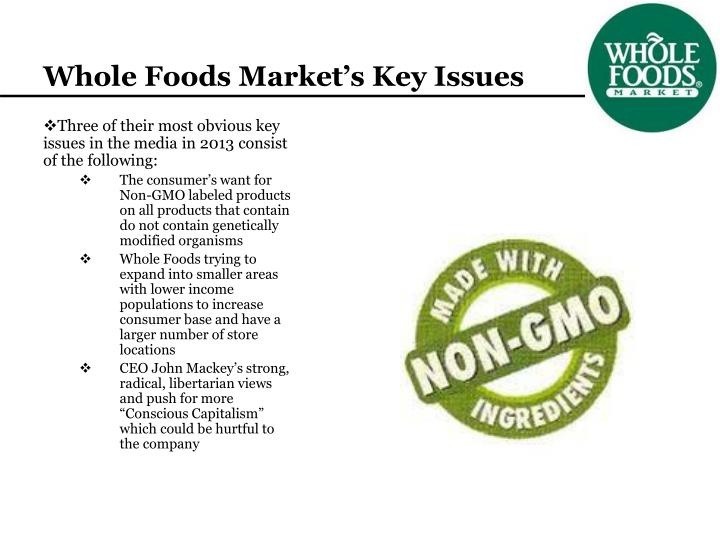Whole Foods Market's Key Issues