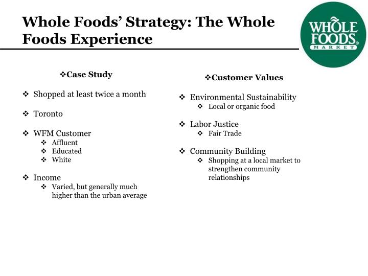 Whole Foods' Strategy: The Whole Foods Experience