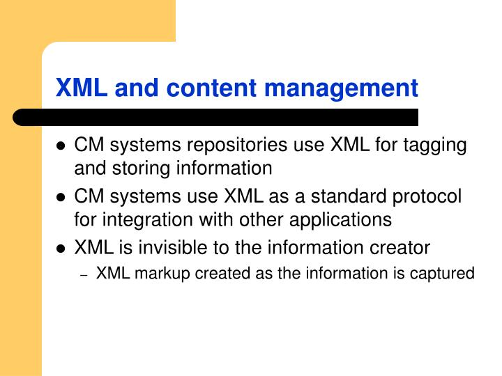 XML and content management