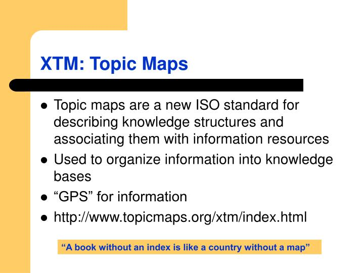 XTM: Topic Maps