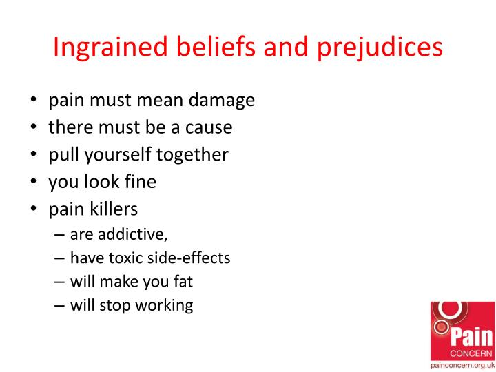 Ingrained beliefs and prejudices