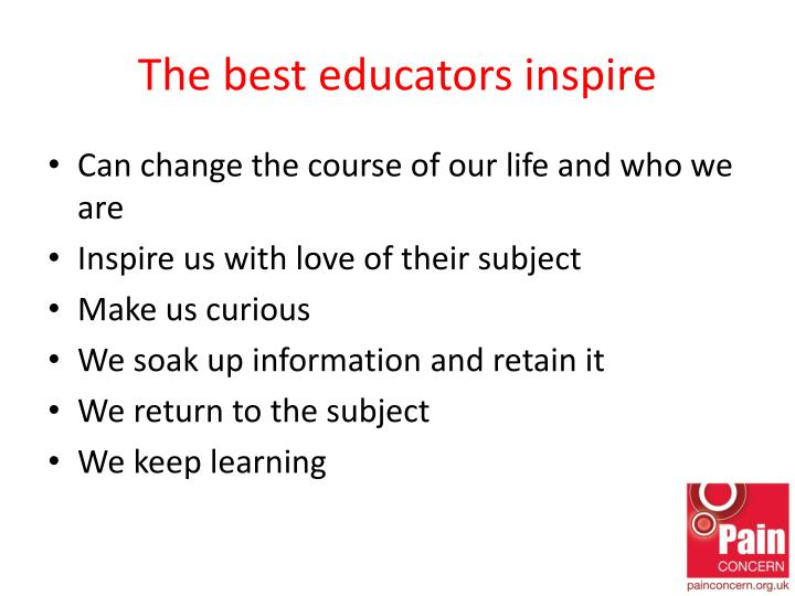 The best educators inspire