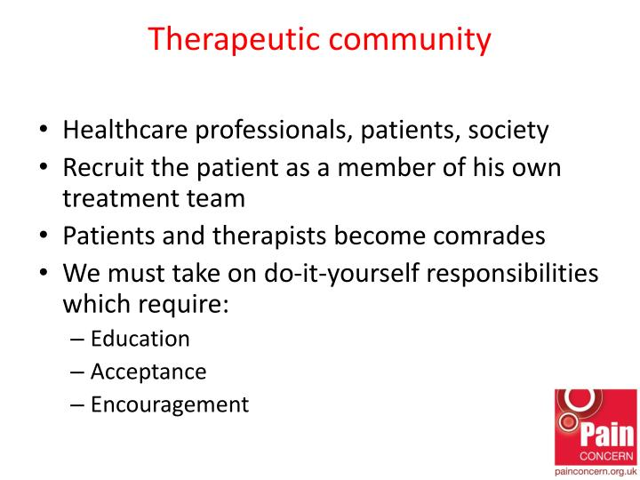 Therapeutic community