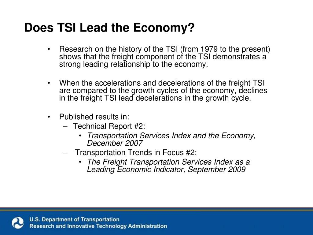 Does TSI Lead the Economy?