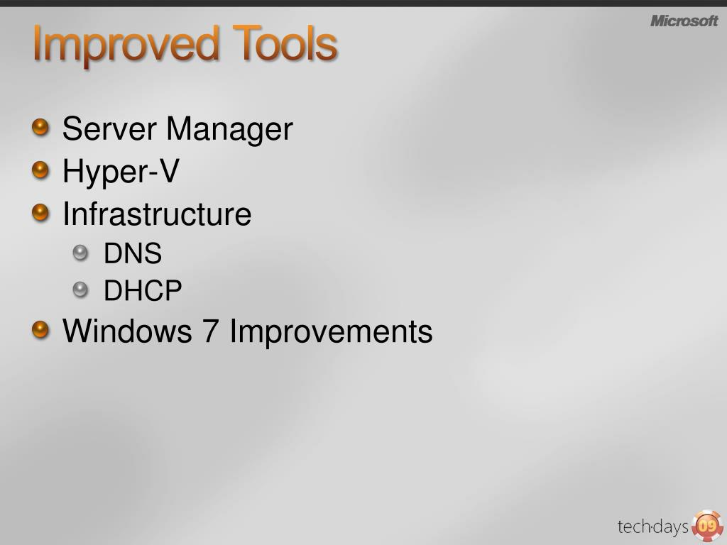 Improved Tools