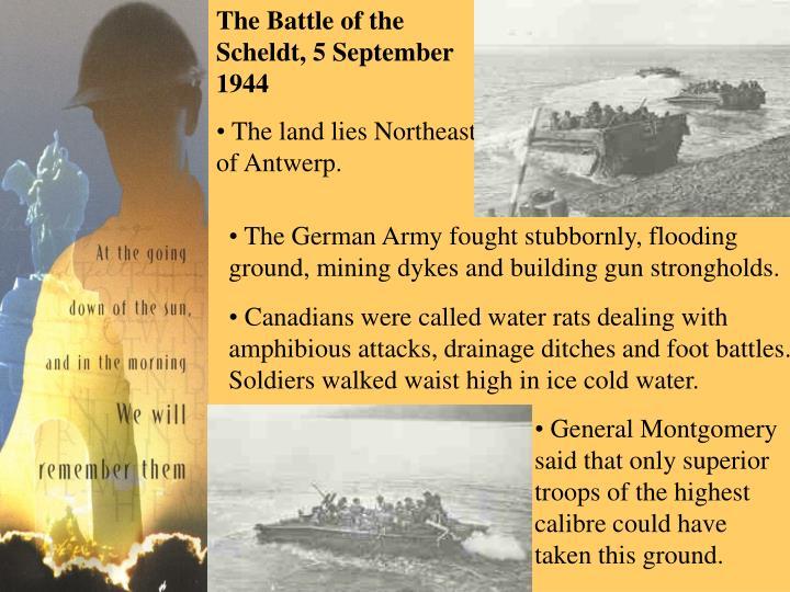 The Battle of the Scheldt, 5 September 1944
