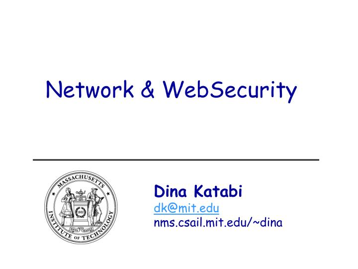 Network & WebSecurity