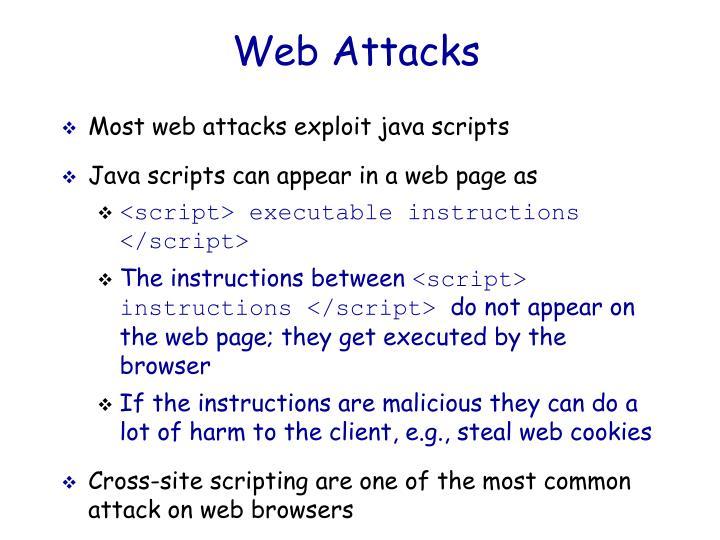 Web Attacks