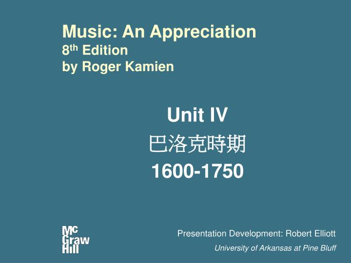 Music an appreciation 8 th edition by roger kamien