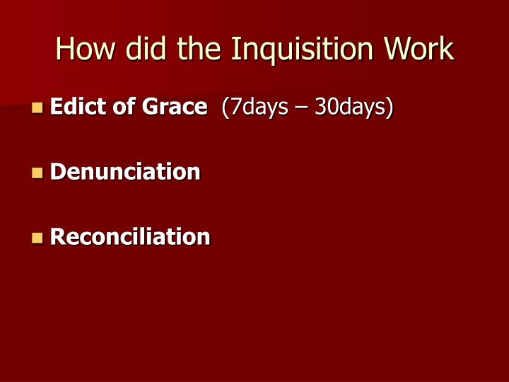 How did the Inquisition Work