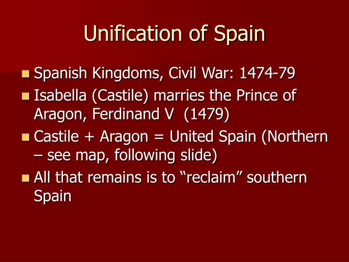 Unification of Spain