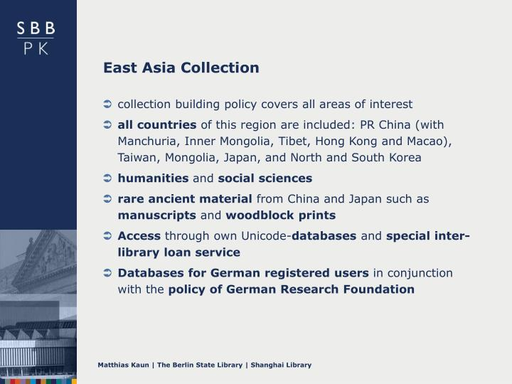 East Asia Collection