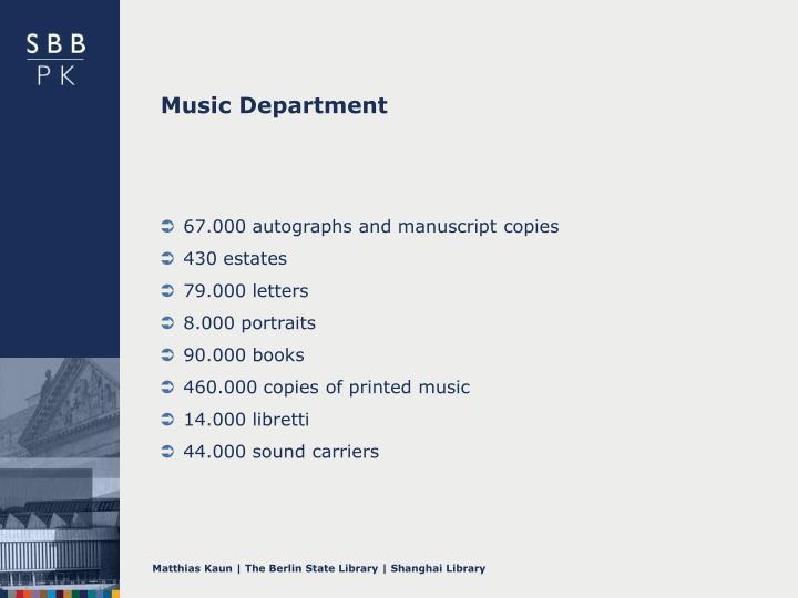 Music Department