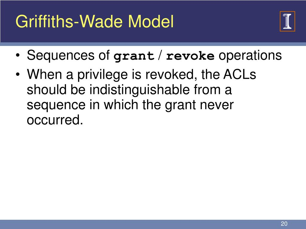 Griffiths-Wade Model