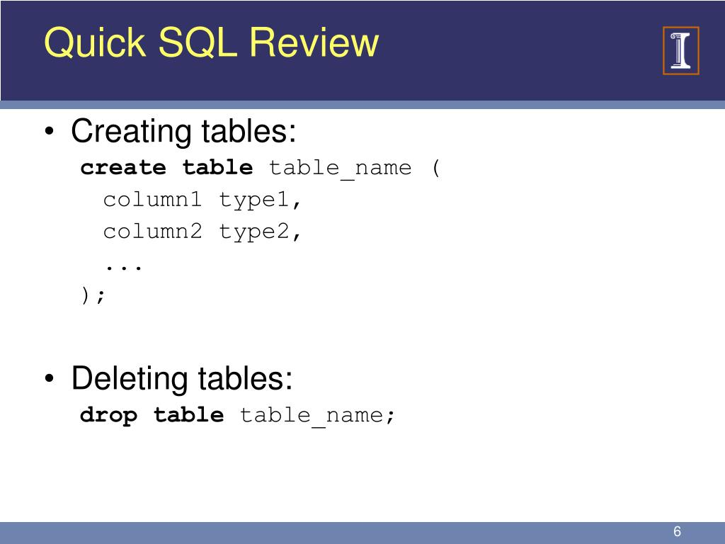 Quick SQL Review