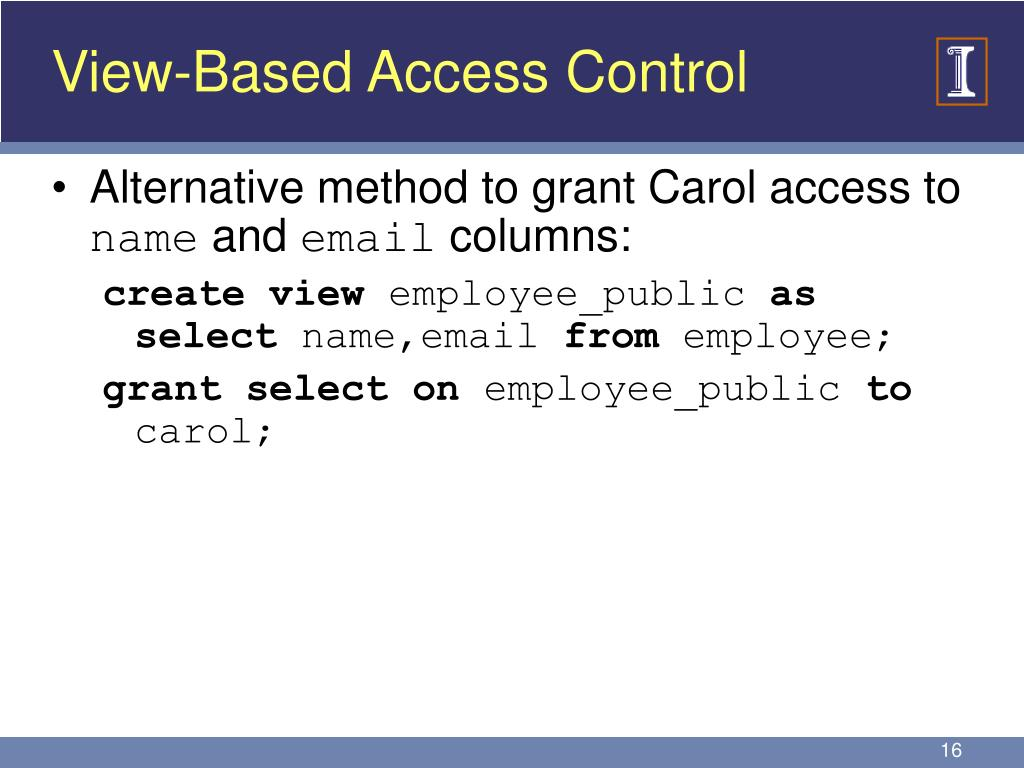 View-Based Access Control