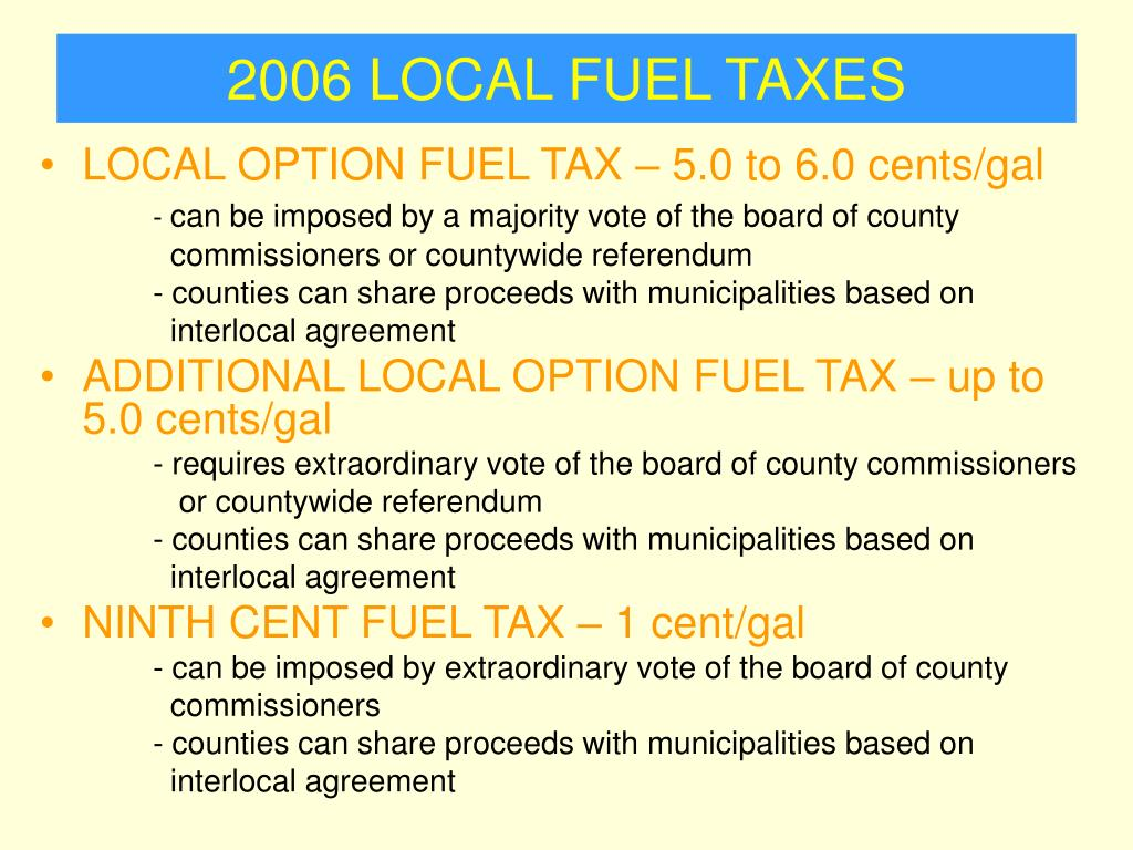 2006 LOCAL FUEL TAXES