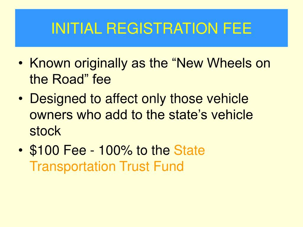 INITIAL REGISTRATION FEE
