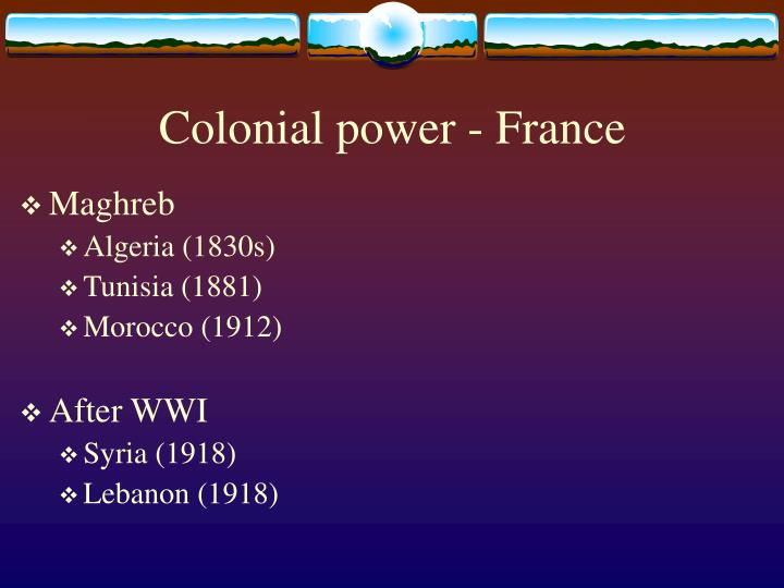 Colonial power - France