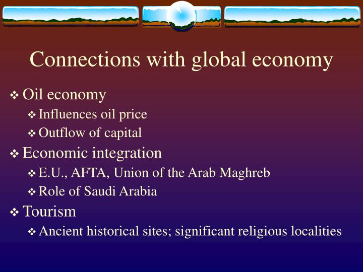 Connections with global economy