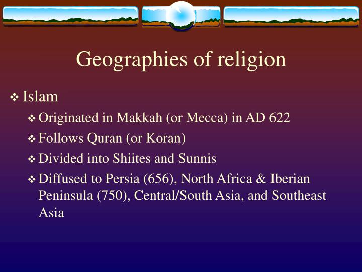 Geographies of religion