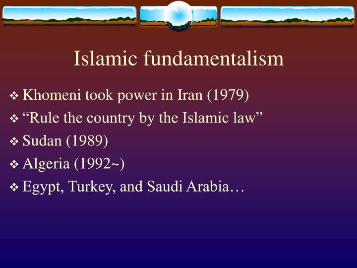 Islamic fundamentalism