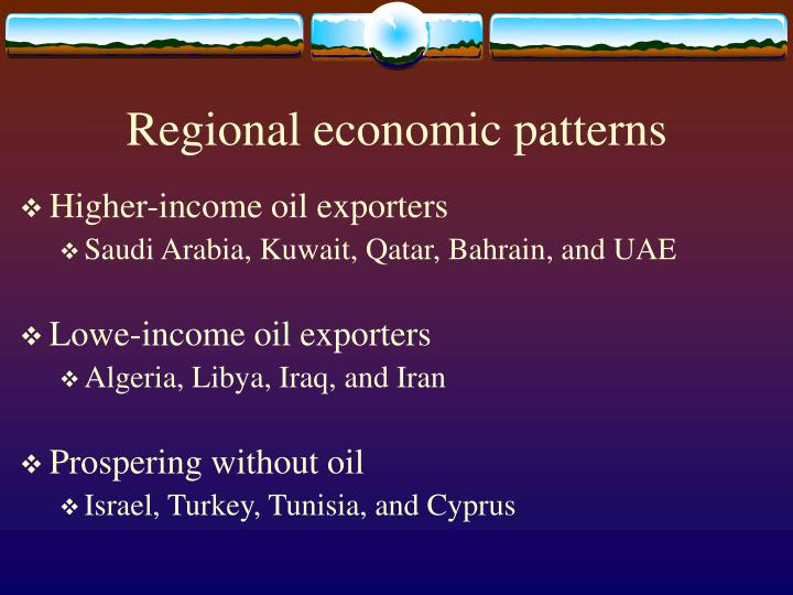 Regional economic patterns