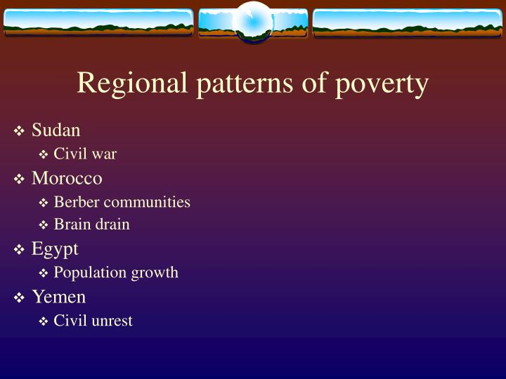 Regional patterns of poverty