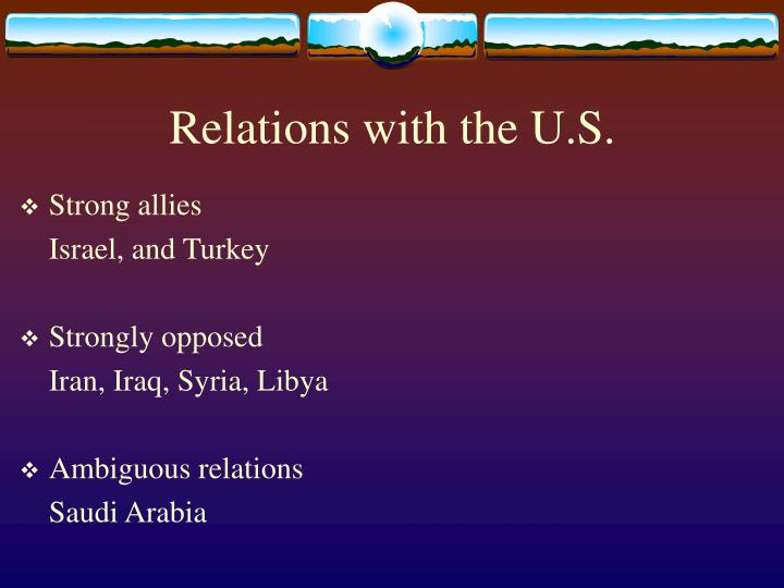 Relations with the U.S.