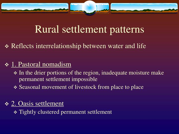 Rural settlement patterns