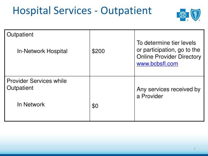 Hospital Services - Outpatient
