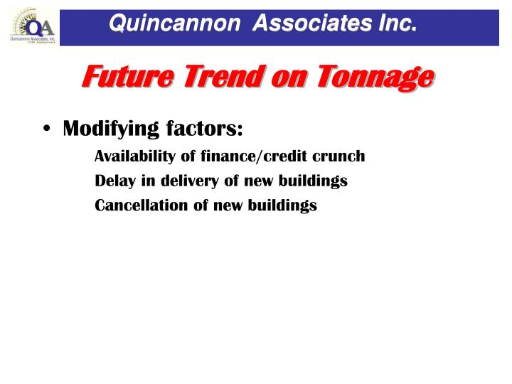 Future Trend on Tonnage