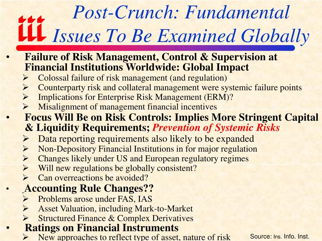 Post-Crunch: Fundamental Issues To Be Examined Globally