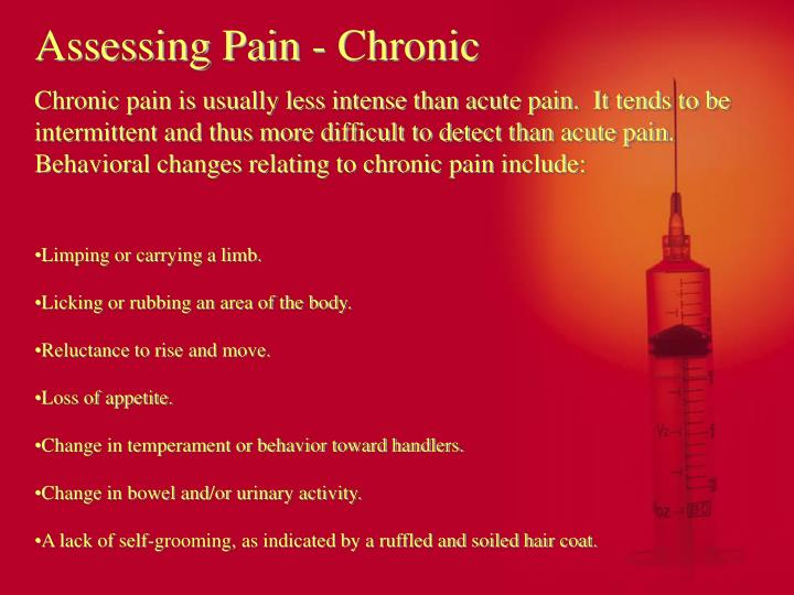 Assessing Pain - Chronic