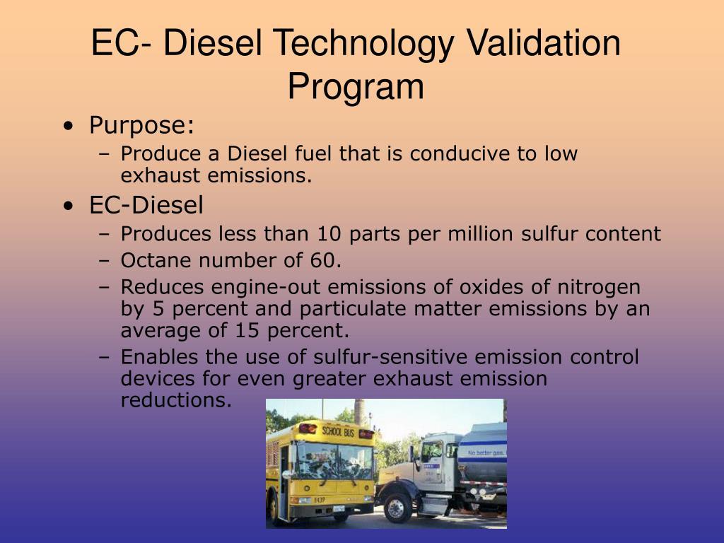 EC- Diesel Technology Validation Program