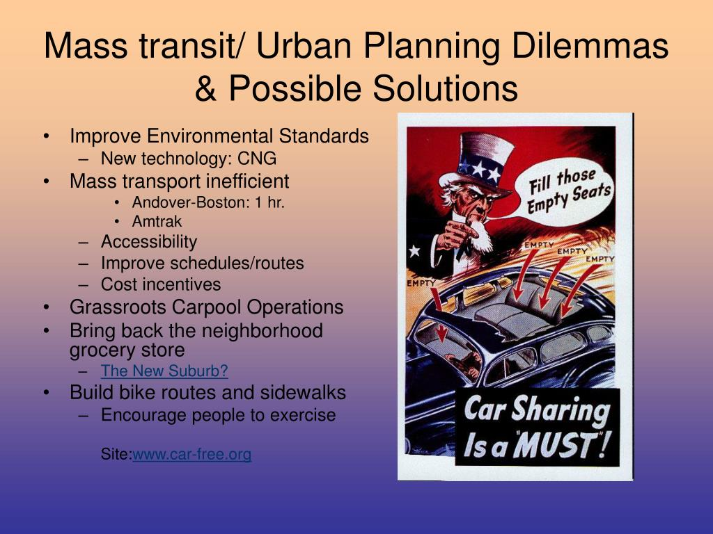 Mass transit/ Urban Planning Dilemmas & Possible Solutions