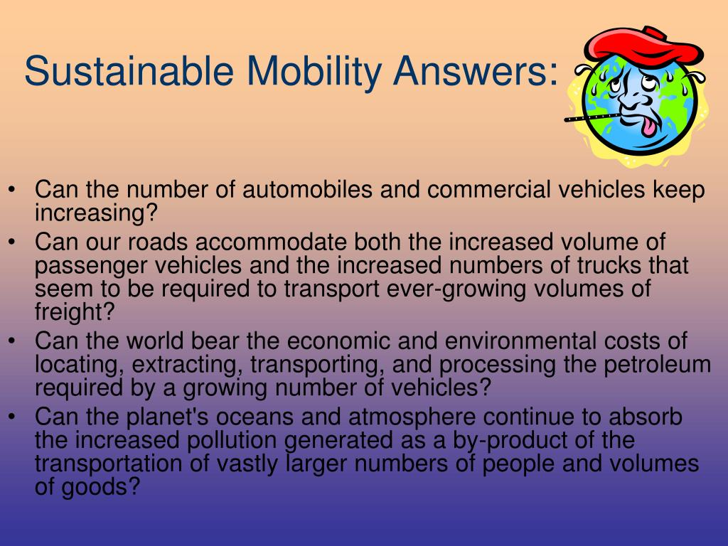 Sustainable Mobility Answers: