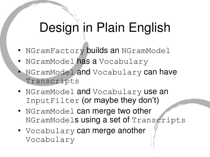 Design in Plain English
